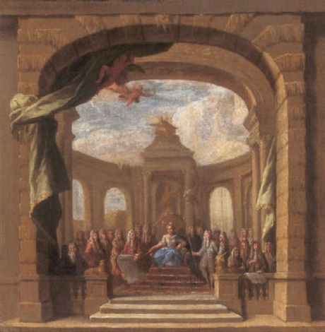 queen anne enthroned by sir james thornhill
