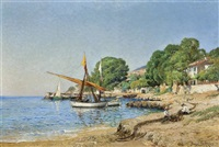 activities by the shore by paulin andre bertrand