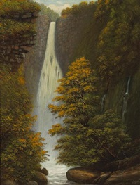 falls of hanapepe, kauai by edward bailey