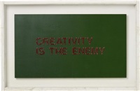 creativity is the enemy by tom sachs