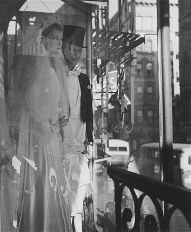window bridal couple new york by lisette model