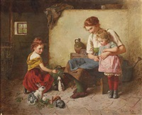 feeding the rabbits by edmund adler