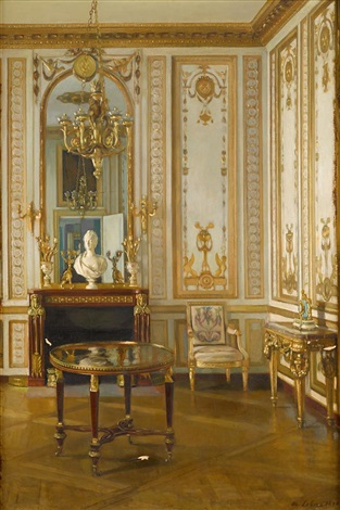 french interior said to be marie antoinettes study by maurice lobre