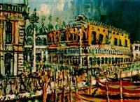 venedig, san marco, dogenpalast by carlo battisti