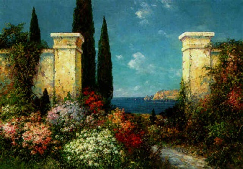 italian gardens in bloom by f arnold
