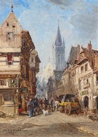 la ruelle devant la cathédrale by jules achille noel