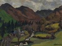 paysage de campagne by albert lemaitre