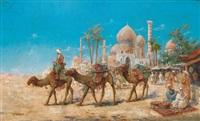 markttreiben vor den toren einer ägyptischen stadt (luxor) by c. meron