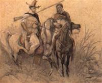 cavaliers algériens by louis eugène ginain