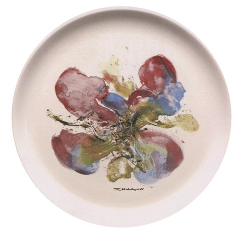 蘭花 limited orchid porcelain by zao wou ki