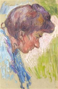 femme au chignon by jean misceslas peské