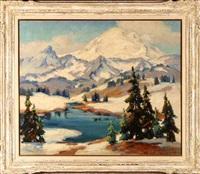 snow-capped mountain landscape by evylena nunn miller