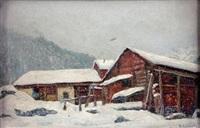 chalets sous la neige by ange abrate
