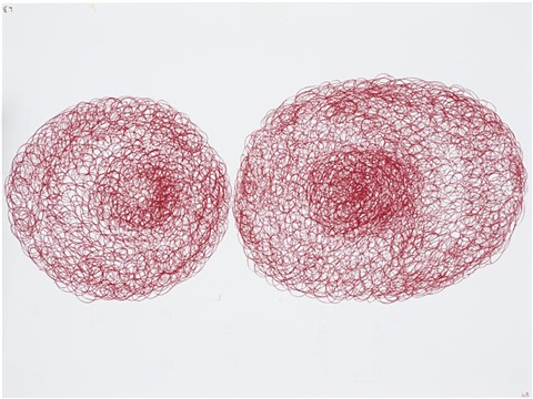 untitled double sided by louise bourgeois