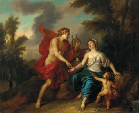 apollo and the cumaean sibyl by noël nicolas coypel