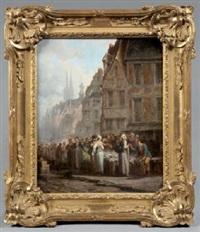 le vieux marché - le marché au poisson, normandie by léonard saurfelt