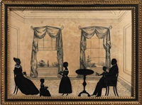 interior scene with silhouettes by samuel metford