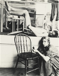 self portrait with liza, providence, rhode island by francesca woodman