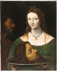salome mit dem haupt johannes des täufers by bernardino luini