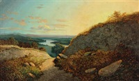 scottish highland with castle by david leslie