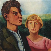 twee figuren; two figures by charley toorop