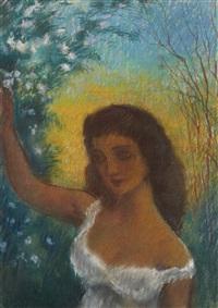 portrait de femme by léonid frechkop