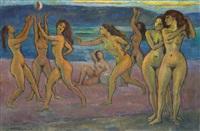 nus sur la plage by léonid frechkop