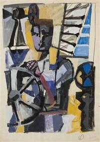 giovane operaio al tornio (young worker to lathe) by antonio scordia
