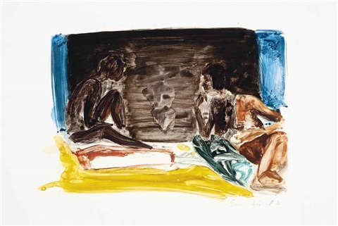 figures in an interior by eric fischl