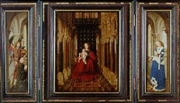 the virgin and child enthroned by jan van eyck