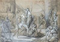 scène de la prise de troie by louis-charles-auguste couder