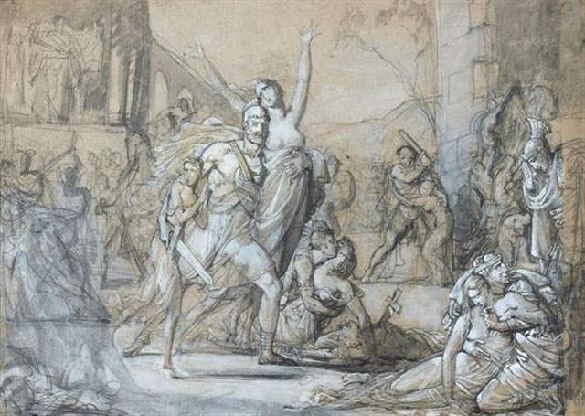 scène de la prise de troie by louis charles auguste couder