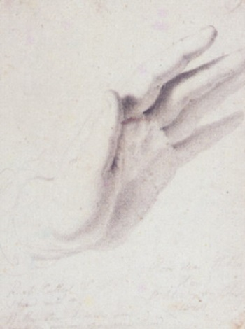 study of wilkies hand by benjamin robert haydon