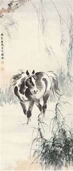 柳荫牧马 (horse) by ge xianglan and liu danzhai