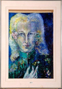 jeune femme à la fleur by marguerite acarin