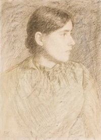 ung kvinne by erik theodor werenskiold