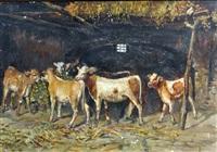 stalla con vitelli by domenico battaglia