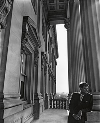 senator john f. kennedy, at the capitol, washington dc by arnold newman