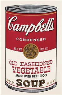 campbell's soup ii. old fashioned vegetable by andy warhol