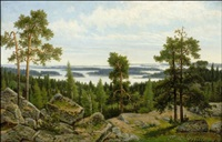 järvimaisema by karl august fahlgren