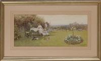 tea in a garden by thomas james lloyd