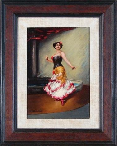 spanish dancer by friedrich august von kaulbach