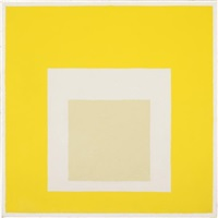 "study for homage to the square: ""dimmed center by josef albers"