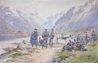 la halte des chasseurs alpins by bernard rambaud