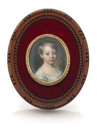 portrait d'un enfant en buste by francois meuret