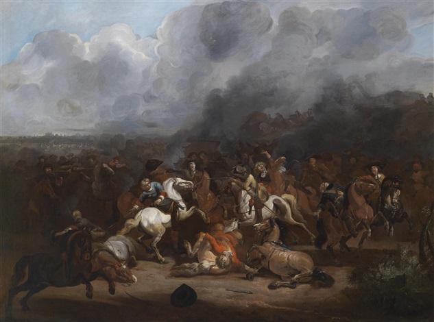ein reitergefecht by august querfurt