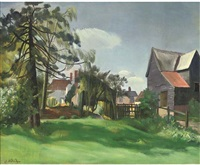 farm houses by john arthur malcolm aldridge