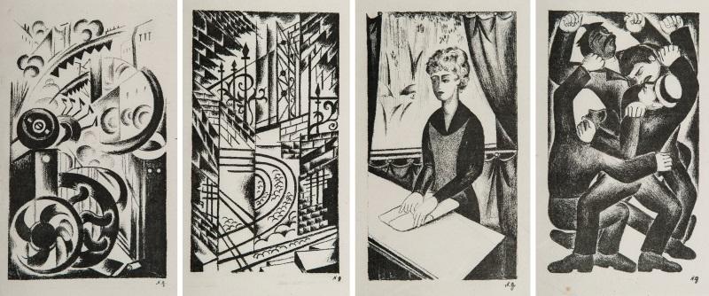 illustrations pour alexandre roubakine gorod la cité 8 works by natalia sergeevna goncharova
