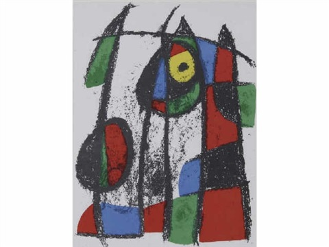 original lithograph vii by joan miró