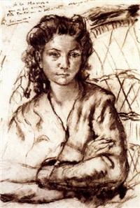 retrato femenino by rafael llimona benet